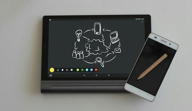 Spolupráce mobilního telefonu a tabletu